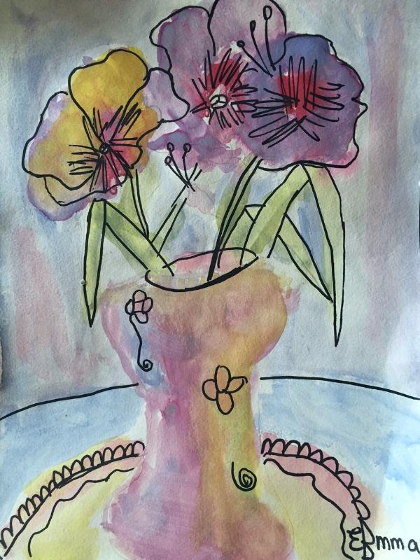 Sa peinture en 3e année