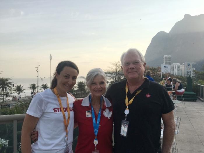 J'ai eu l'occasion de dîner et passer du temps en tête à tête avec les parents de Rosie MacLennan, Jane et John à Rio.