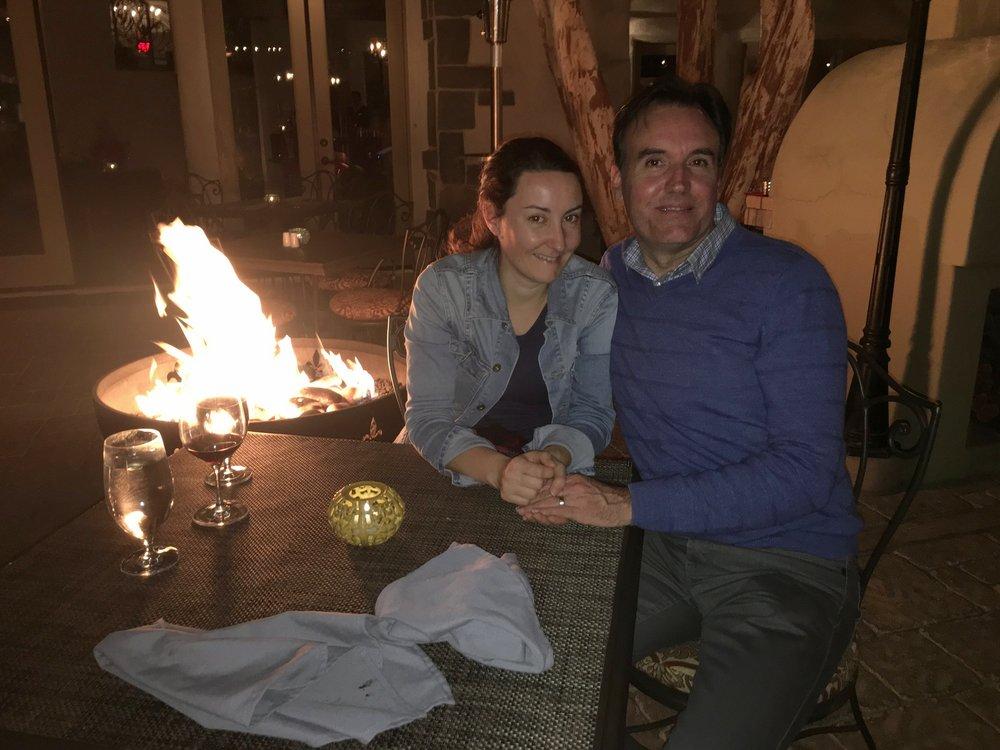 Crédit photo : Jaime Damak Resto Le Melange : photo prise à la fin de notre repas en amoureux