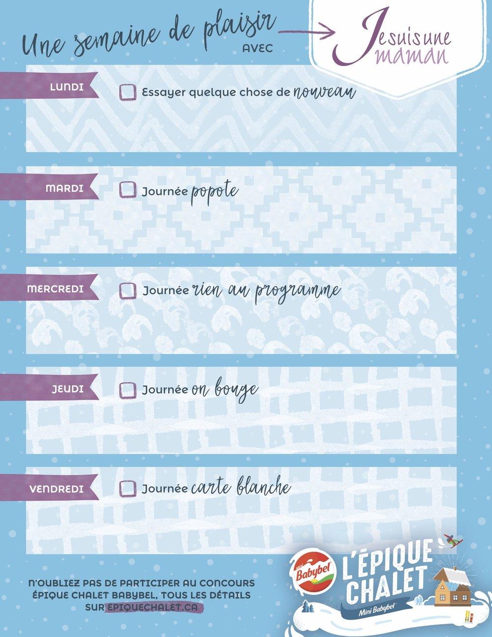 Un calendrier que vous pouvez imprimer et personnaliser. Yé !