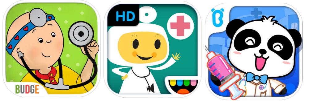 applications pour enfants sur le thème Docteur
