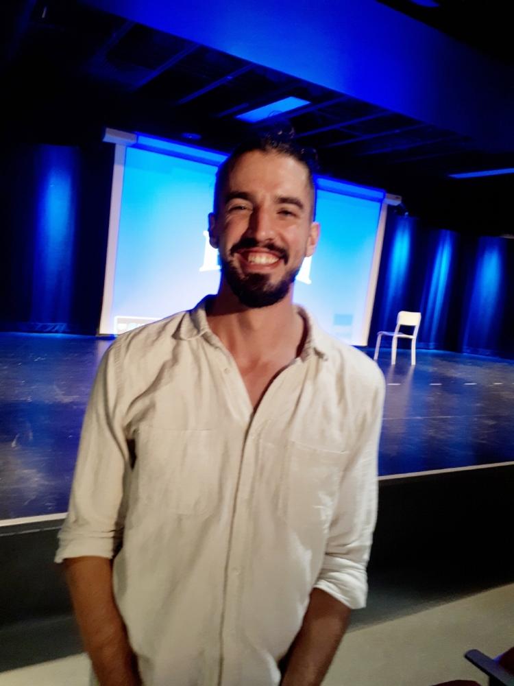 Guillaume Vermette lors de sa conférence  Photo : Élyse Marchand