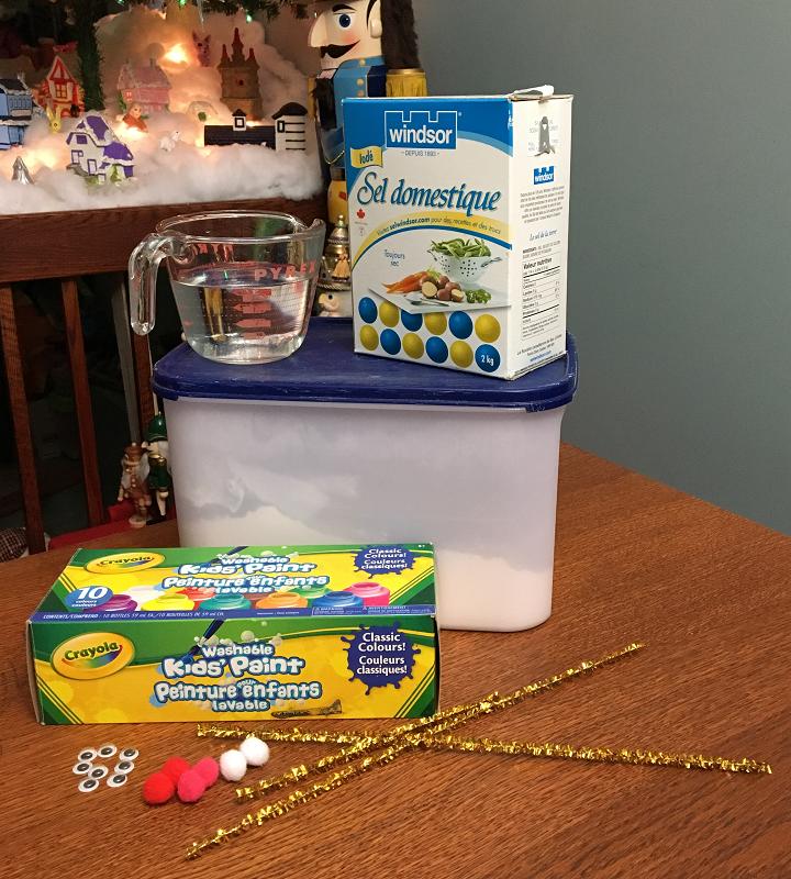 matériel pate à sel de Noël
