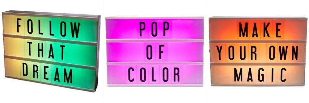 caisson lumineux multicolore