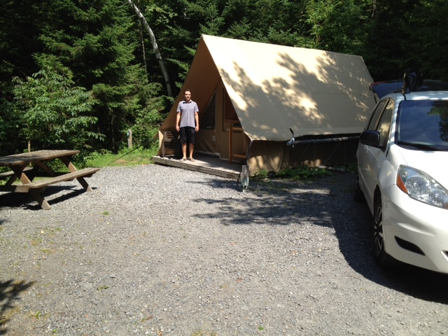 1ere expérience en tente Huttopia