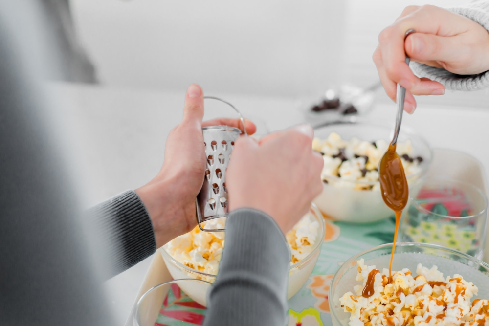 recettes express de popcorn sucré-salé