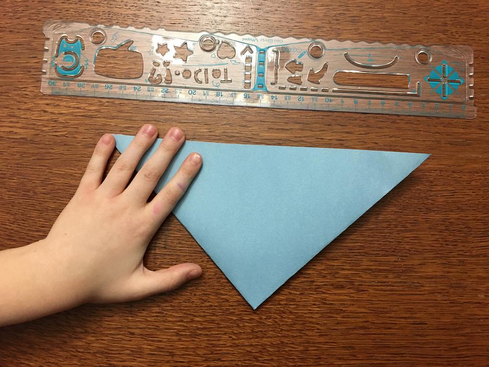 pliage de papier pour faire un flocon