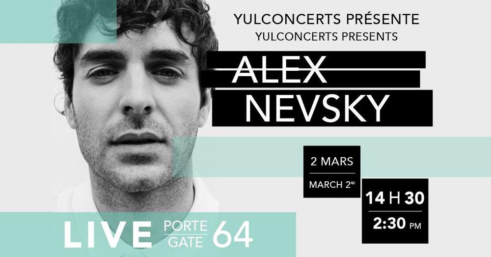 AlexNevsky en concert à l'aéroport 2 mars