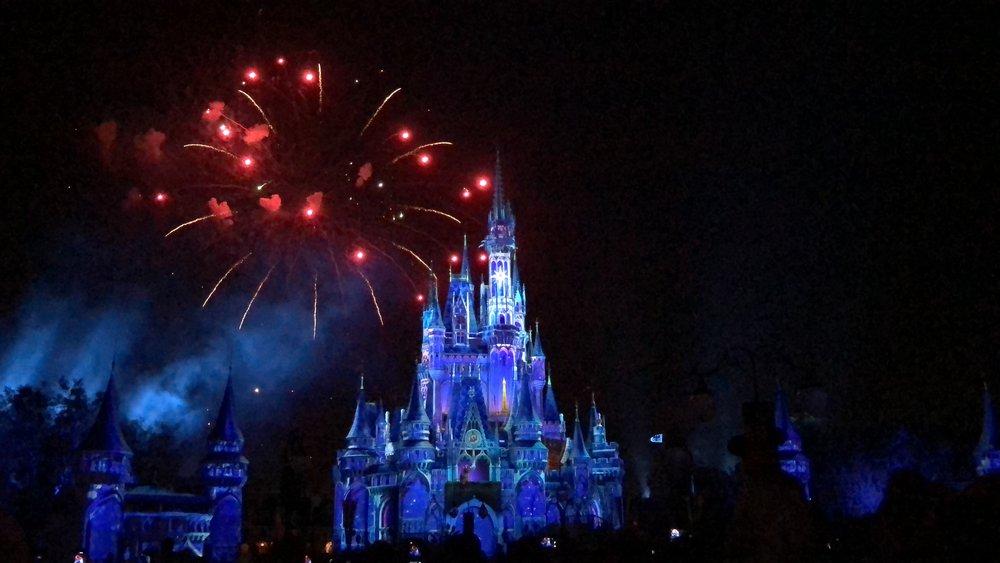 Feux d'artifice Disney World, Voyage en famille à Disney