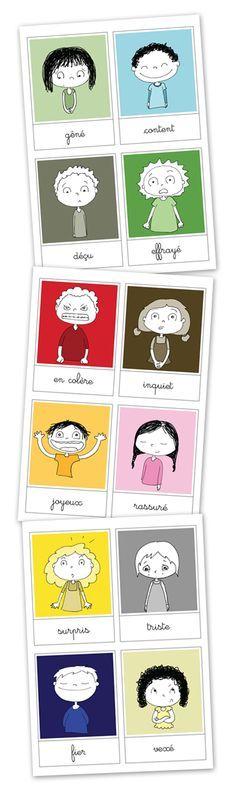 affichette émotions, gestion des émotions des enfants