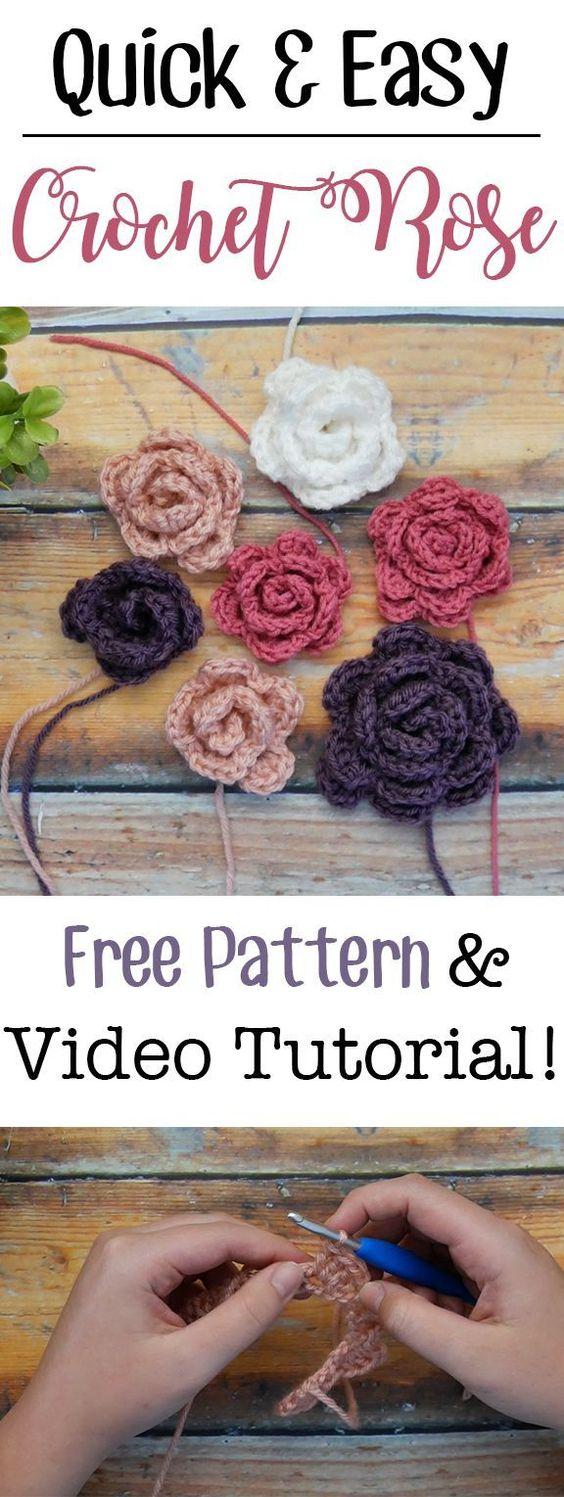 Rose en tricot-crochet-crocheter-tuto-patron-Pinterest-Je suis une maman