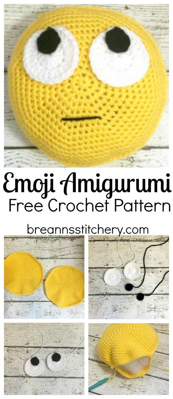 Amigrumi Emoji en tricot-crochet-crocheter-tuto-patron-Pinterest-Je suis une maman