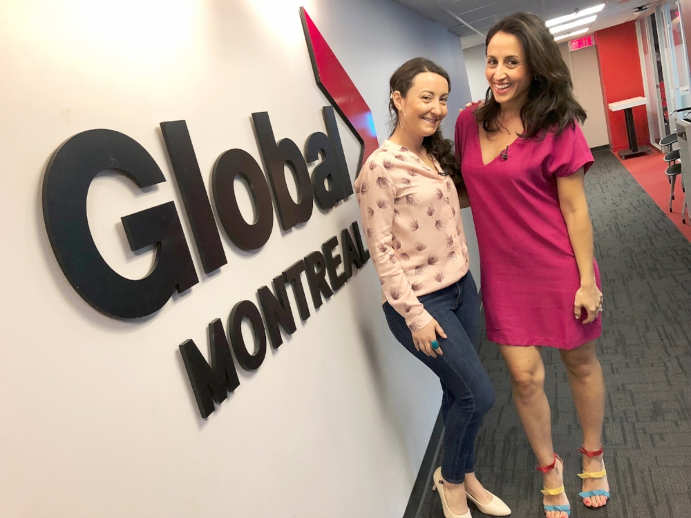 TV appearance- Global Montreal-travel-Television-Jaime Damak-Je suis une maman