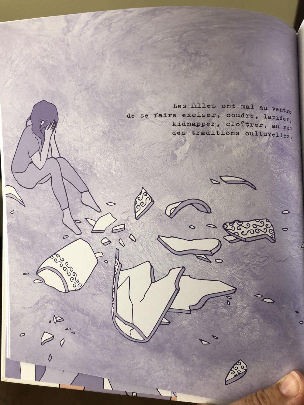 Pourquoi les filles ont mal au ventre-album illustré-album engagé-femmes-féministe-inégalisté garçons filles-réflexion-féminité-album porteur de sens-Je suis une maman