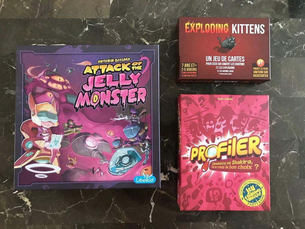 Banc d'essai-Jeux asmodee Canada-Jeux de société-enfants-jeunes-famille-jouer-Attack of the Kelly monster-Exploding kittens-profiler-Je suis une maman