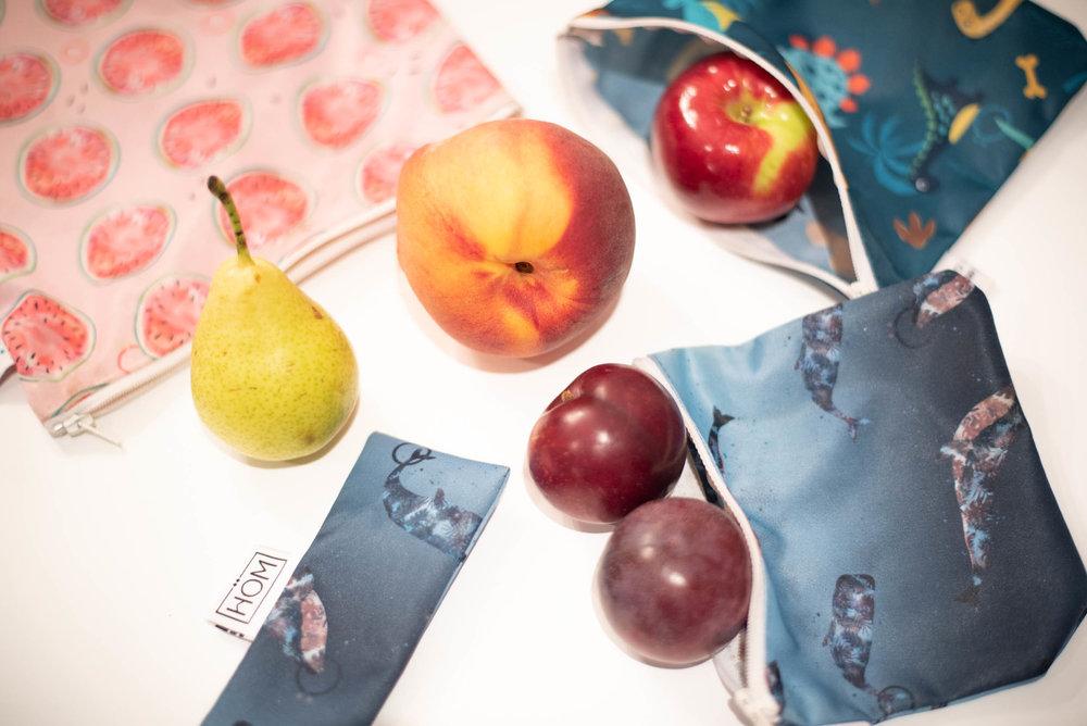 sacs réutilisables-Gustö-écolo-Lunch-collation-remplacer les sacs Ziploc-école-produits québécois-made in québec-Pratique-Je suis une maman