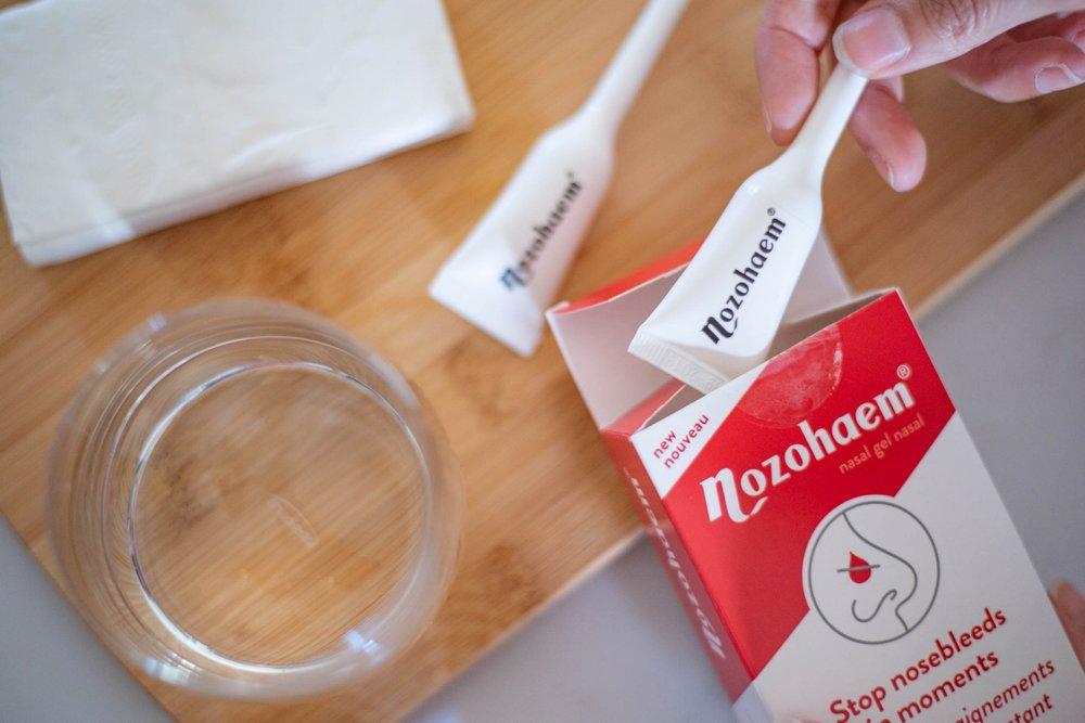 Nozohaem-saignement de nez-arrêter les saignements-soin-santé-saignement nasal-Dre Maman-banc d'essai-commentaires-Je suis une maman