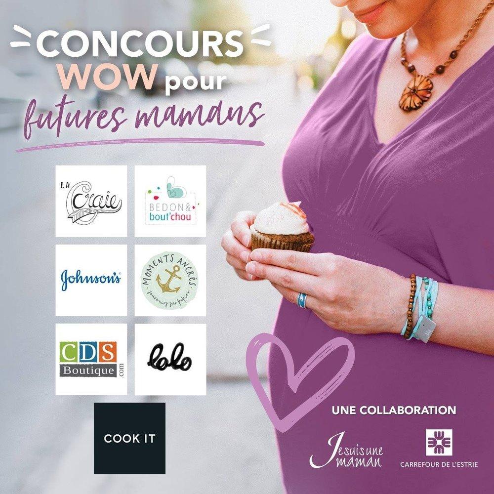 Super concours-Futures mamans-prix-à gagner-Wow-estrie-Je suis une maman