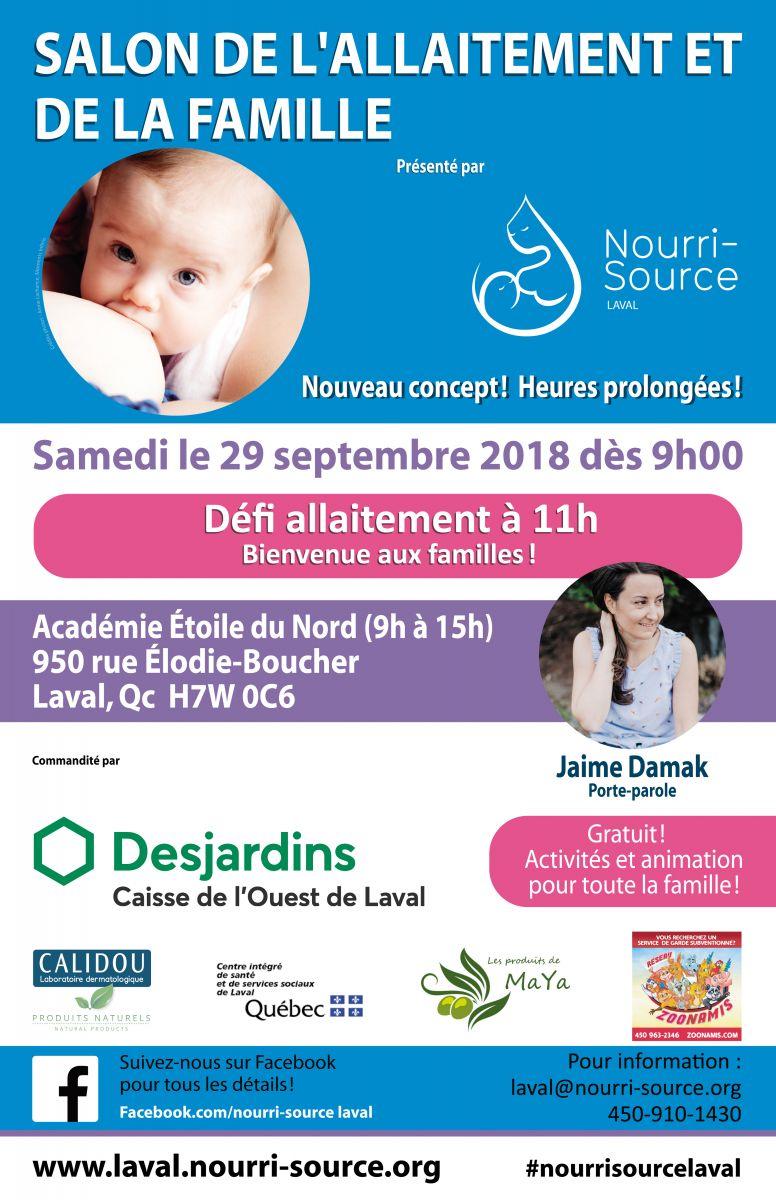 Salon de l'allaitement et de la famille-défi allaitement-événement-rassemblement-Laval-Maman-Bébé-allaiter-Je suis une maman