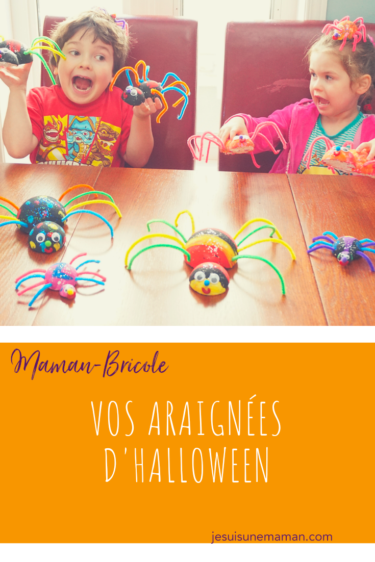 Brico d'Halloween-Carton d'oeufs-bricolages-brico-DIY-décorations-déco maison- enfant- boules de styromousse-jouer-bricoler-Halloween-Maman Bricole-#Mamanbricole-Je suis une maman