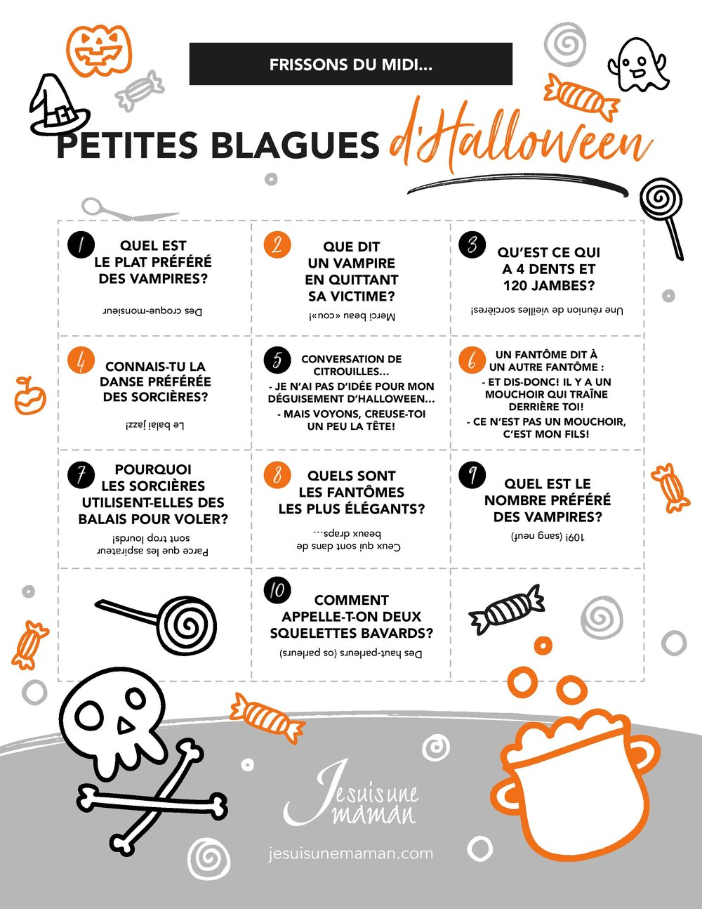 Frisson du midi-blagues-gags-plaisanteries-Blagues d'Halloween-Jokes-Halloween-Rire-S'amuser-plaisanterie d'Halloween-Octobre-enfants-parents-Je suis une maman