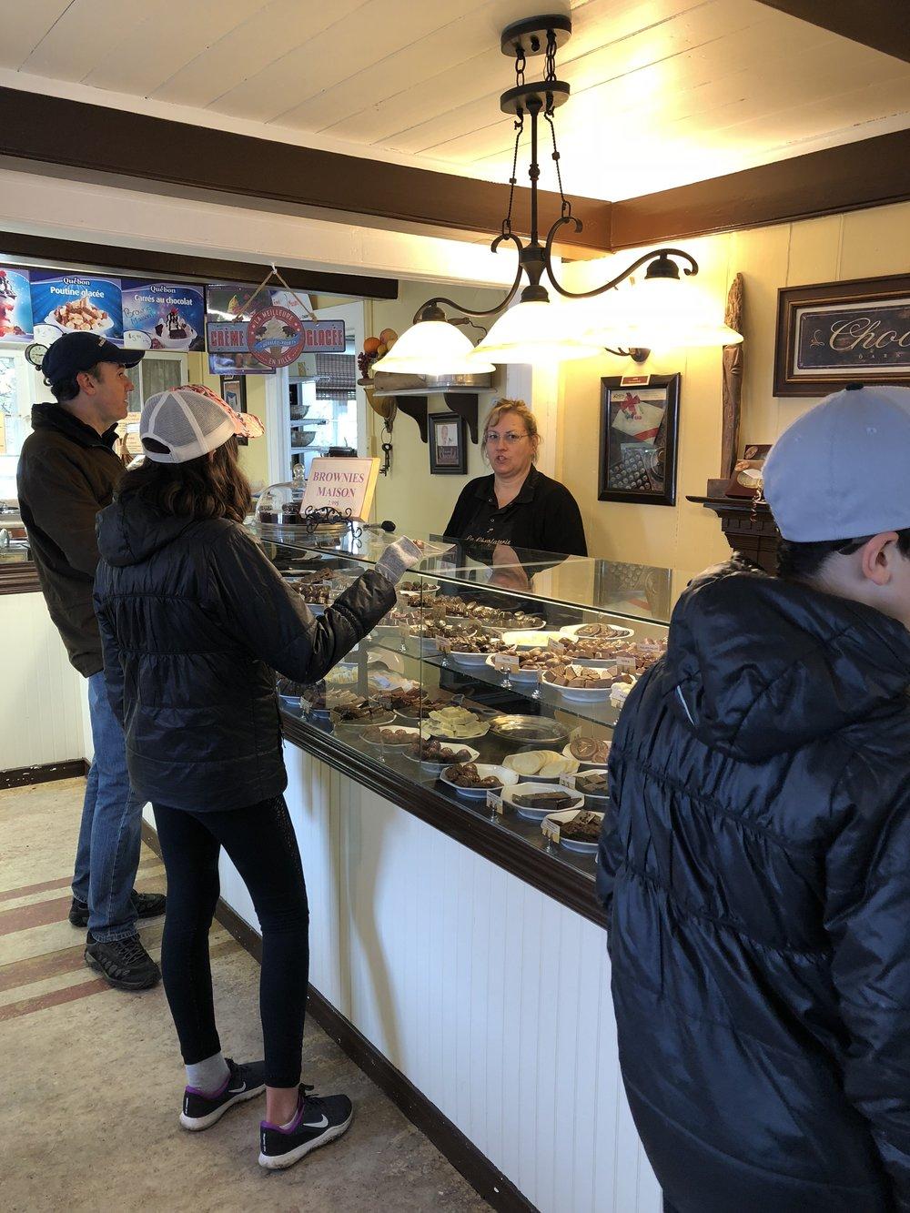 La chocolaterie du village, Charlevoix, voyage en famille, adresses gourmandes