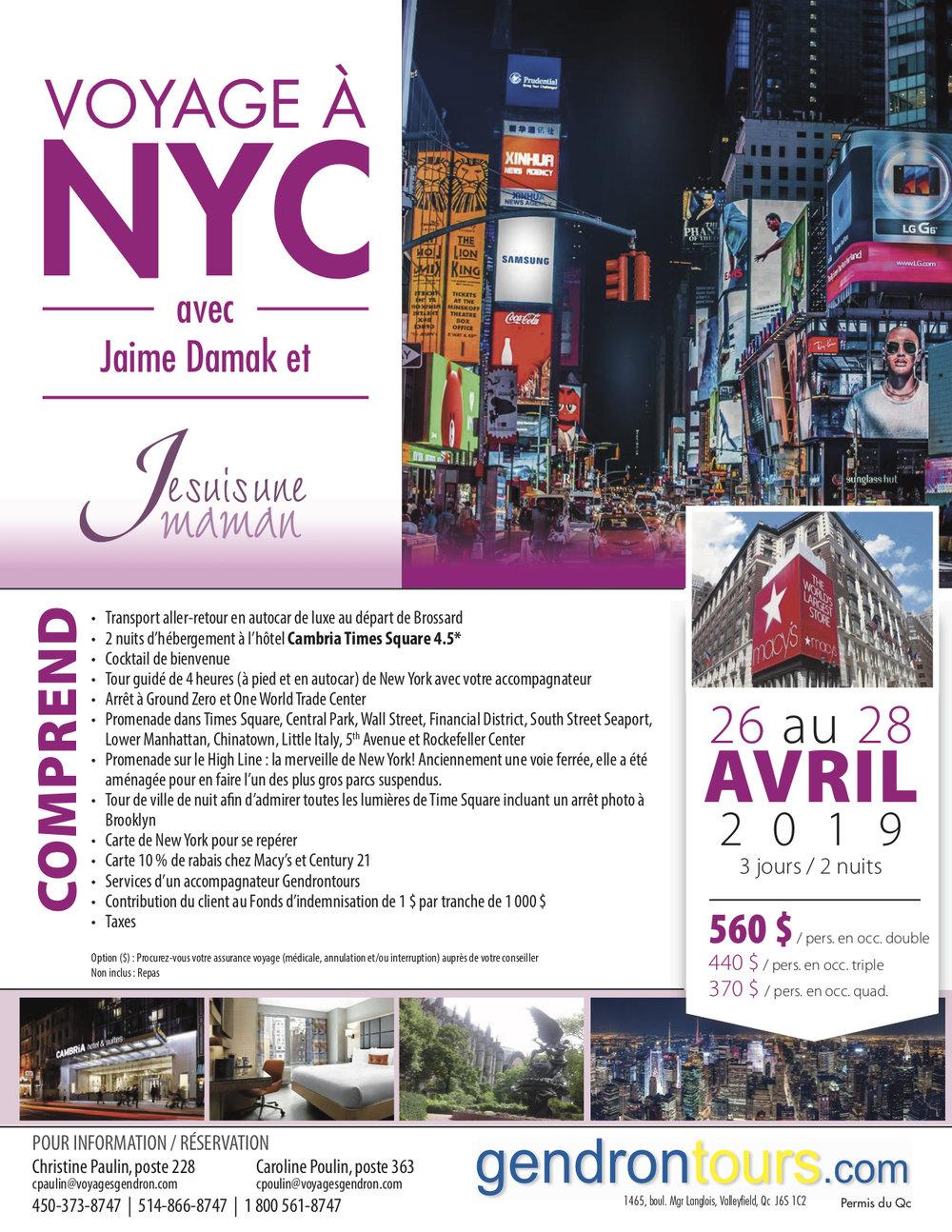Voyage de filles à New York-Printemps-voyage de groupe-Jaime Damak-Je suis une maman-NYC