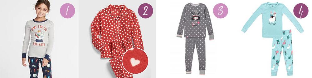 pyjamas pour les filles-fillettes-jeunes filles-idées cadeaux-pyj-souri mini- clément-old Navy-gap-Je suis une maman