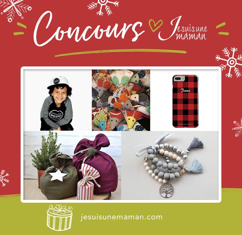 concours artisans locaux-fait au Québec-Noël-Fêtes-Je suis une maman