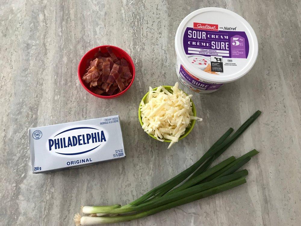 trempette chaude au bacon et au fromage-recette-potluck-réception-recevoir-souper des Fêtes-Je suis une maman