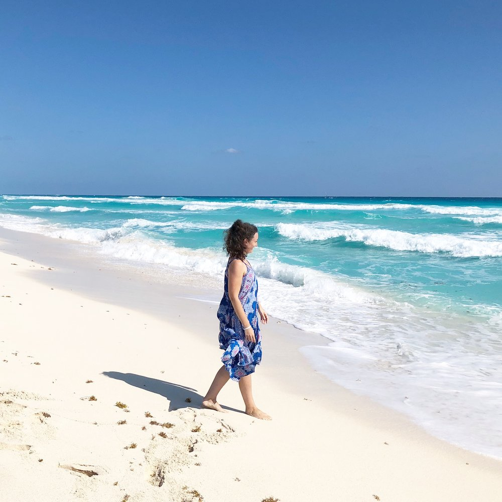 Photo prise lors de mon dernier voyage de presse de l'année à Cancun.
