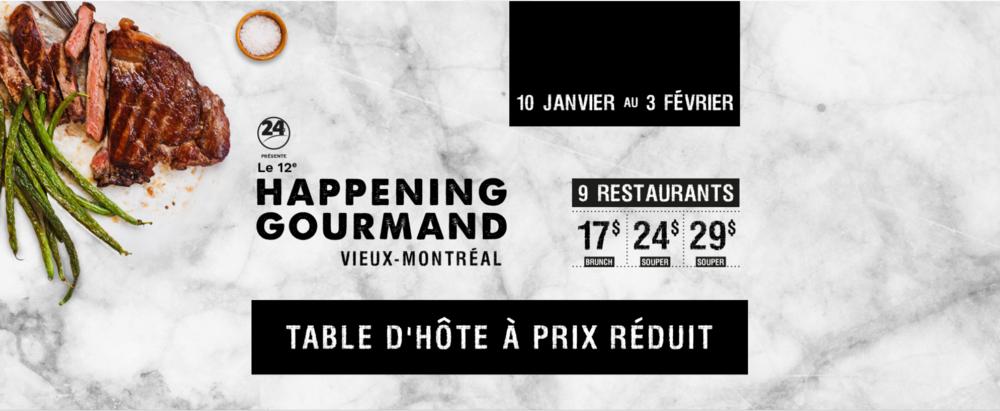 Happening gourmand Montréal - repas au resto- mtl-MtlMoments-Vieux Montréal-table d'hôte à prix réduit-Je suis une maman