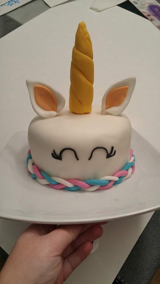 gâteau en forme de licorne-fondant-décorer un gâteau-gâteau au fondant pour enfant-licorne- maman sucrée-Je suis une maman