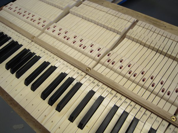 Custom Piano Keyset for Steinway B before Ivory installation