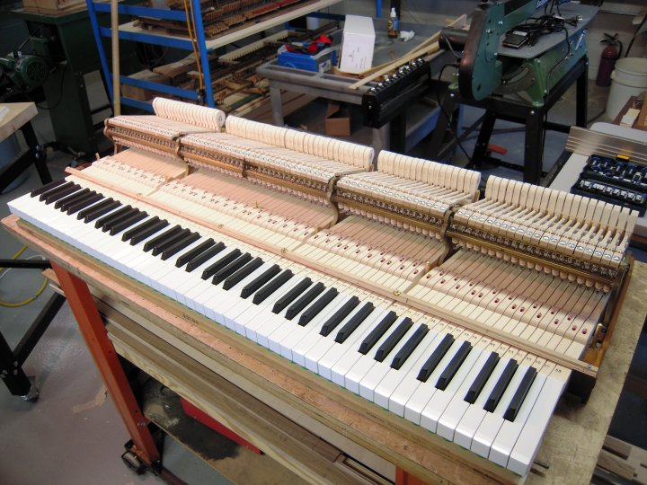 New Custom Steinway B Piano Action