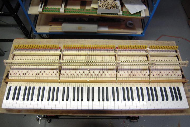 New Steinway F-style Keyboard on original frame.