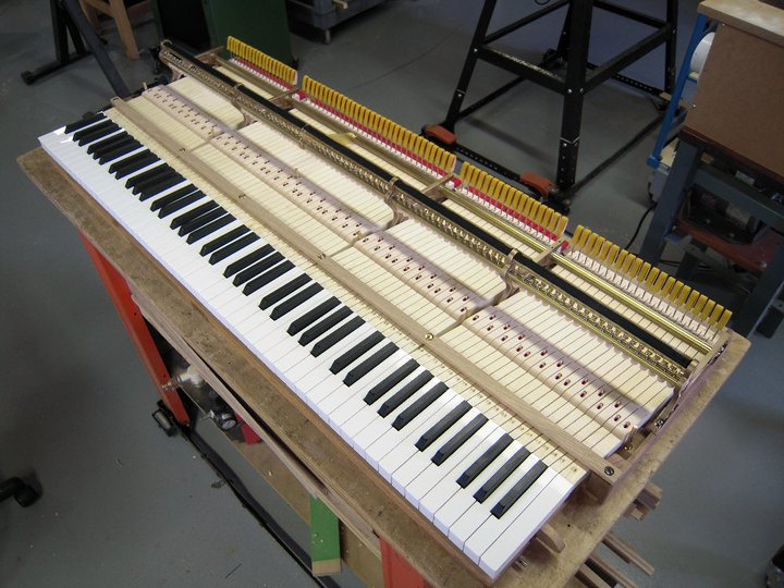Michigan made New Steinway model A keys