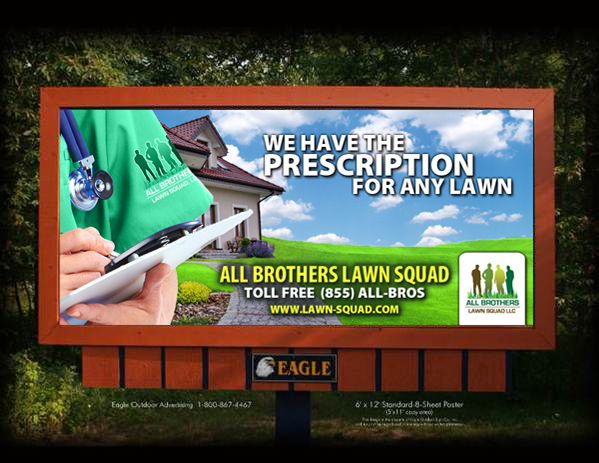 All Brothers Lawn Squad | Union City, IN 8.5x11 flyer, Billboard