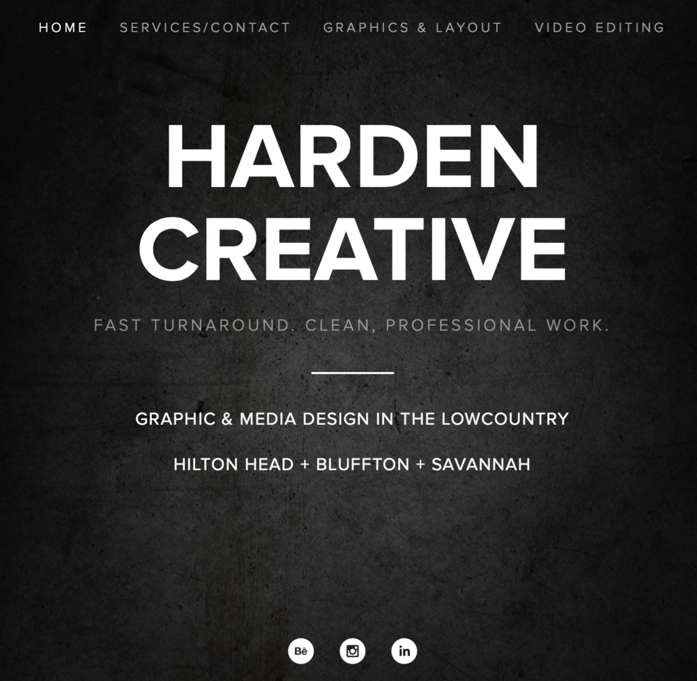 HARDEN CREATIVE Graphic and Media Design in the Lowcountry. Fast turnaround. Clean, professional work. harden-creative.com