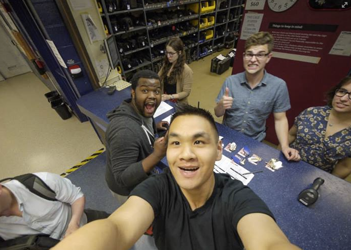 Dan and friends, May 2014 (end of Senior year).