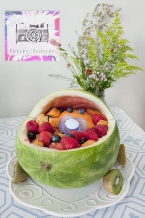 watermelon baby carriage with kiwi wheels