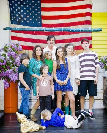 The Novogratz family during filming of their HGTV reality show 'Home by Novogratz' - Season 1 Episode Massachusetts home episode of season 1