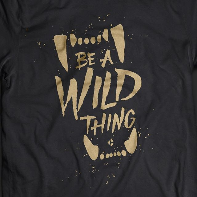 A little #tbt to doing a fun aggressive shirt design for an awesome client to let us. #beawildthing #typography #hustle