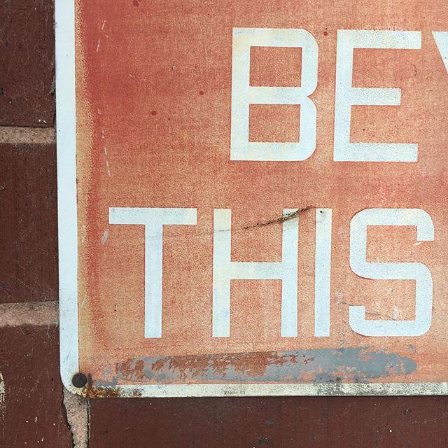 Found typography 'round the mill.