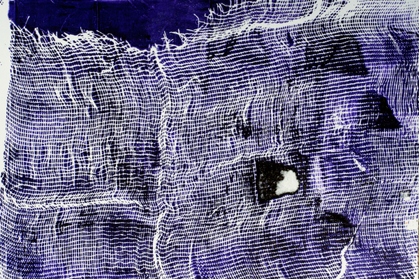 gelatin print, cheesecloth.ART BY TAMMY GARCIA.