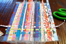 kids art project - weaving paper