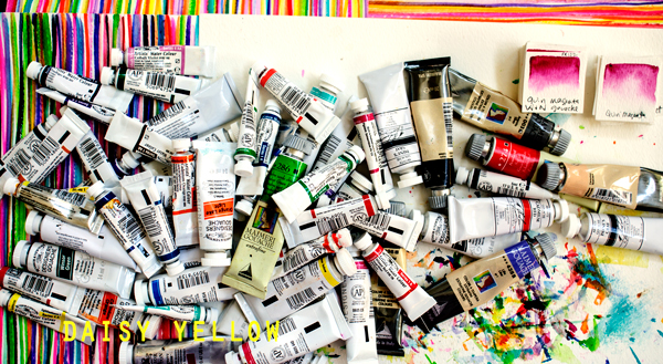 My collection of tubed watercolor and gouache paints
