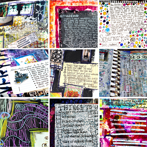 ways to put words on art journal pages