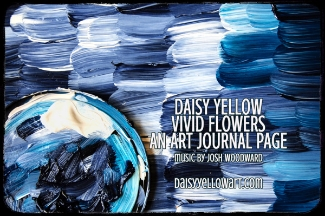 Tutorial:Grunge Flower Grid, an art journal page with heavy body acrylics & collage.