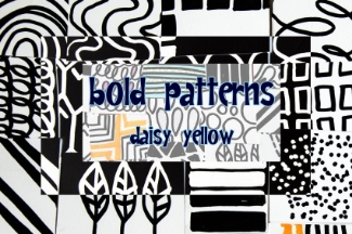 Tutorial: Bold Patterns, Doodles with Faber-Castell PITT Big Brush Markers.Guest post @Create Mixed Media.